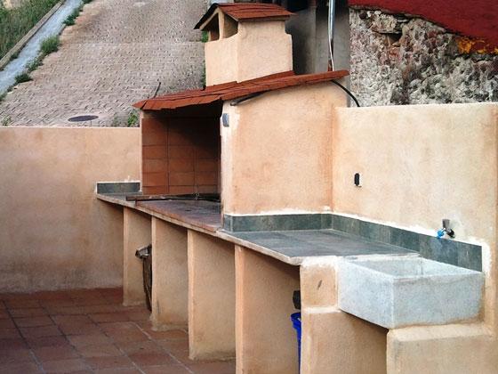 Barbacoa Terraza Casa rural Valle del Cabriel