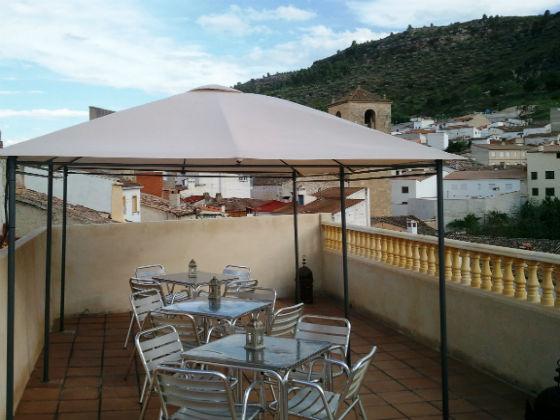 Celador Terraza Casa rural Valle del Cabriel