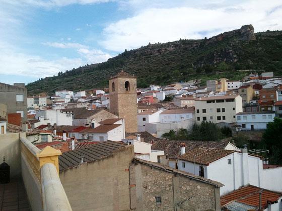 Terraza Casa rural Valle del Cabriel